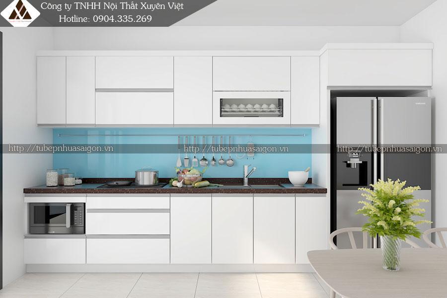 Mẫu tủ bếp đẹp nhà anh Lợi - KĐT Gamuda, Hà Nội