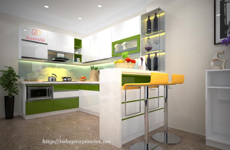 Mẫu tủ bếp hiện đại nhà chị Liên  - Cổ Nhuế, Hà Nội