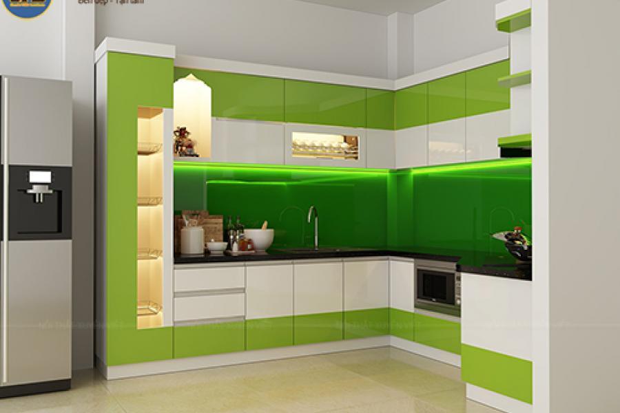 Mẫu tủ bếp laminate đẹp cho resort hay khu nghỉ dưỡng 1
