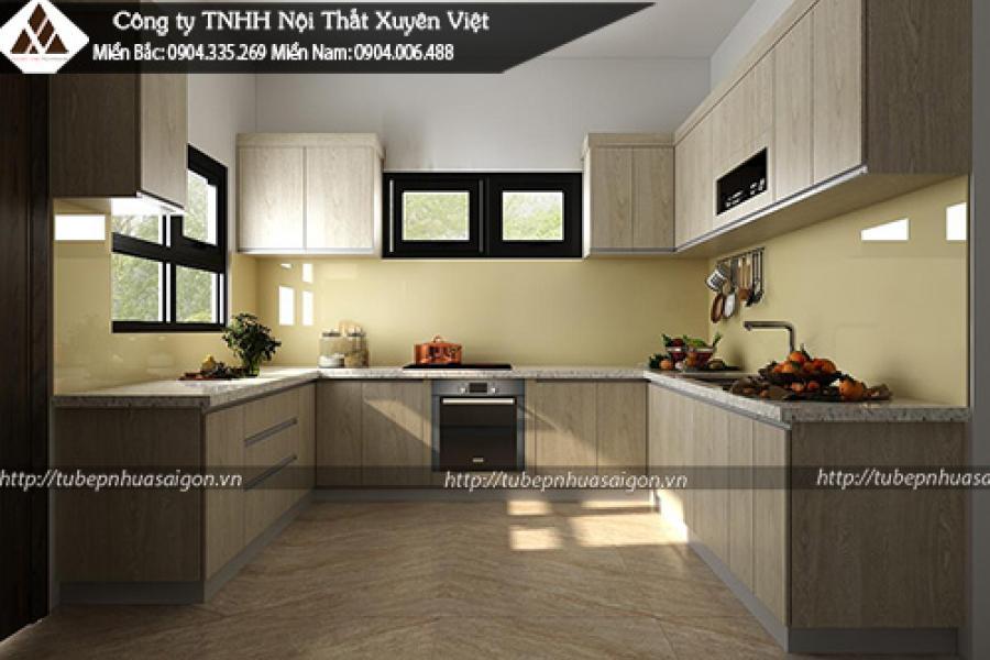 Mẫu tủ bếp laminate đẹp cho resort hay khu nghỉ dưỡng 3