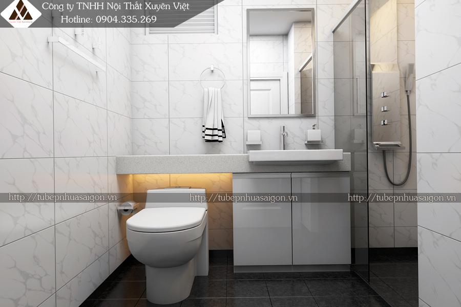 Tủ lavabo đẹp trong nhà tắm XVL106