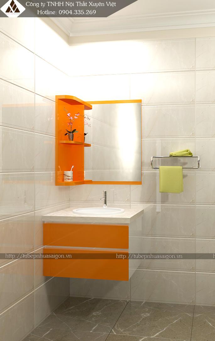 Mẫu tủ nhựa nhà tắm XVL506