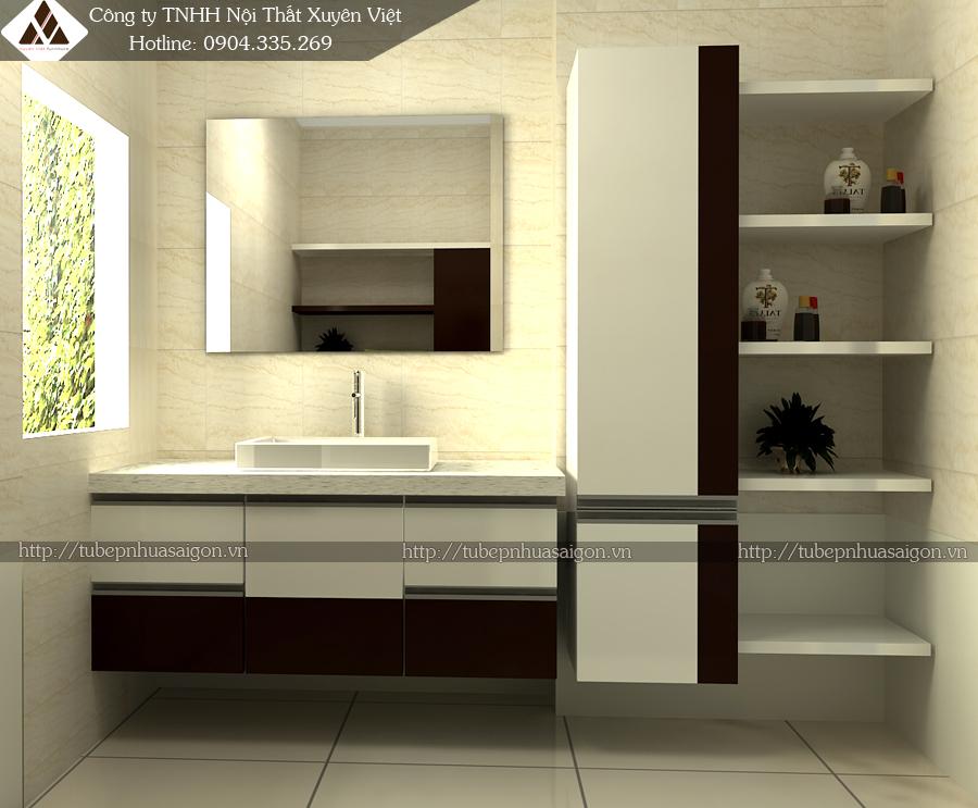 Tủ lavabo nhựa trong nhà tắm XVL508