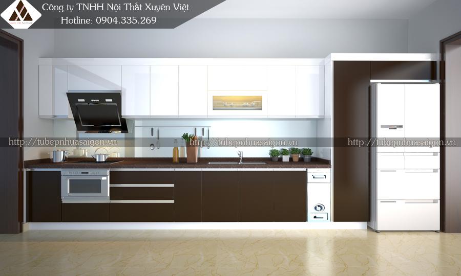 Tủ bếp đẹp hiện đại nhà anh Hòa - Cẩm Phả, Quảng Ninh