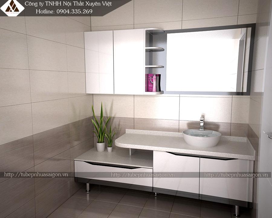Mẫu tủ lavabo đẹp bằng nhựa XVL517