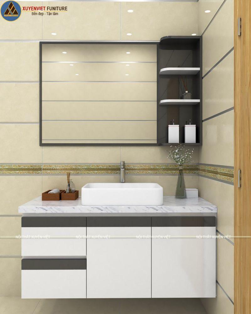 Tủ lavabo treo hiên đại bằngnhựa PVC cao cấp XVL788