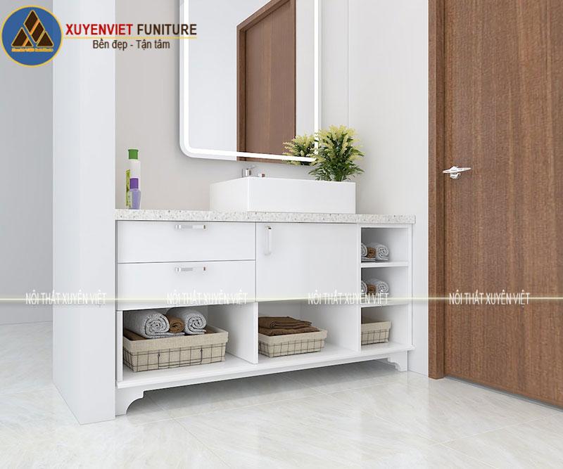 Tủ lavabo chân đứng hiện đại XVL784 đơn giản nhưng đầy sức hút