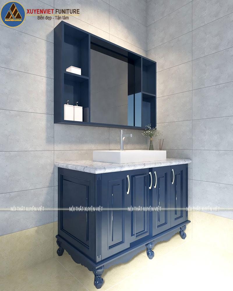 Tủ lavabo nhựa chân đứng cổ điển XVL787 nhà anh Hưng - Đồng Nai